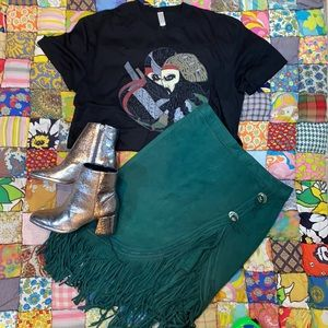 Vintage Black Ninja Samurai Rock Boyfriend T Shirt